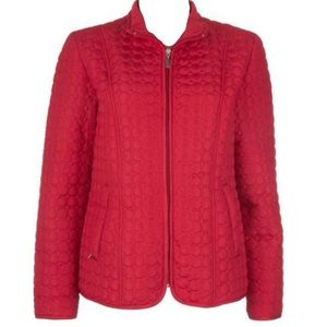 Jane Ashley women's red quilted jacket coat